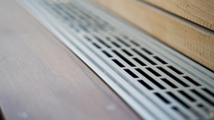 Ventilationsprofil RELO V - Terrassenbelüftungsprofil 1200x151x20 mm